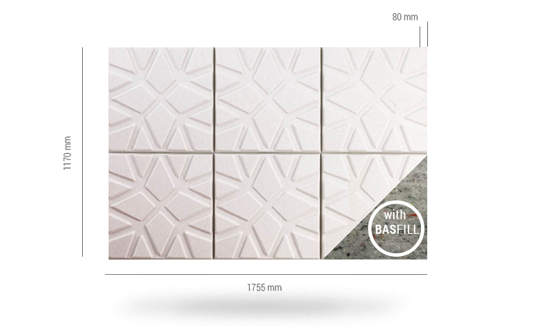 Soundwave® Geo BF 6 pcs. by Offecct evaluated by Acousticfacts.com