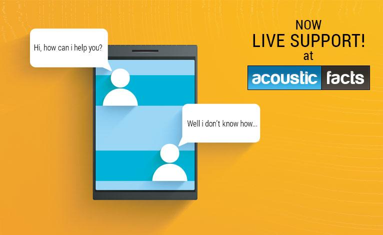 Live chat at acoustic facts